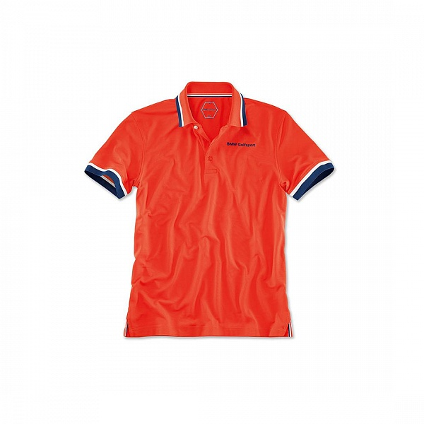 Мужская рубашка-поло BMW Golfsport Polo Shirt, Men, Fire ôîòî