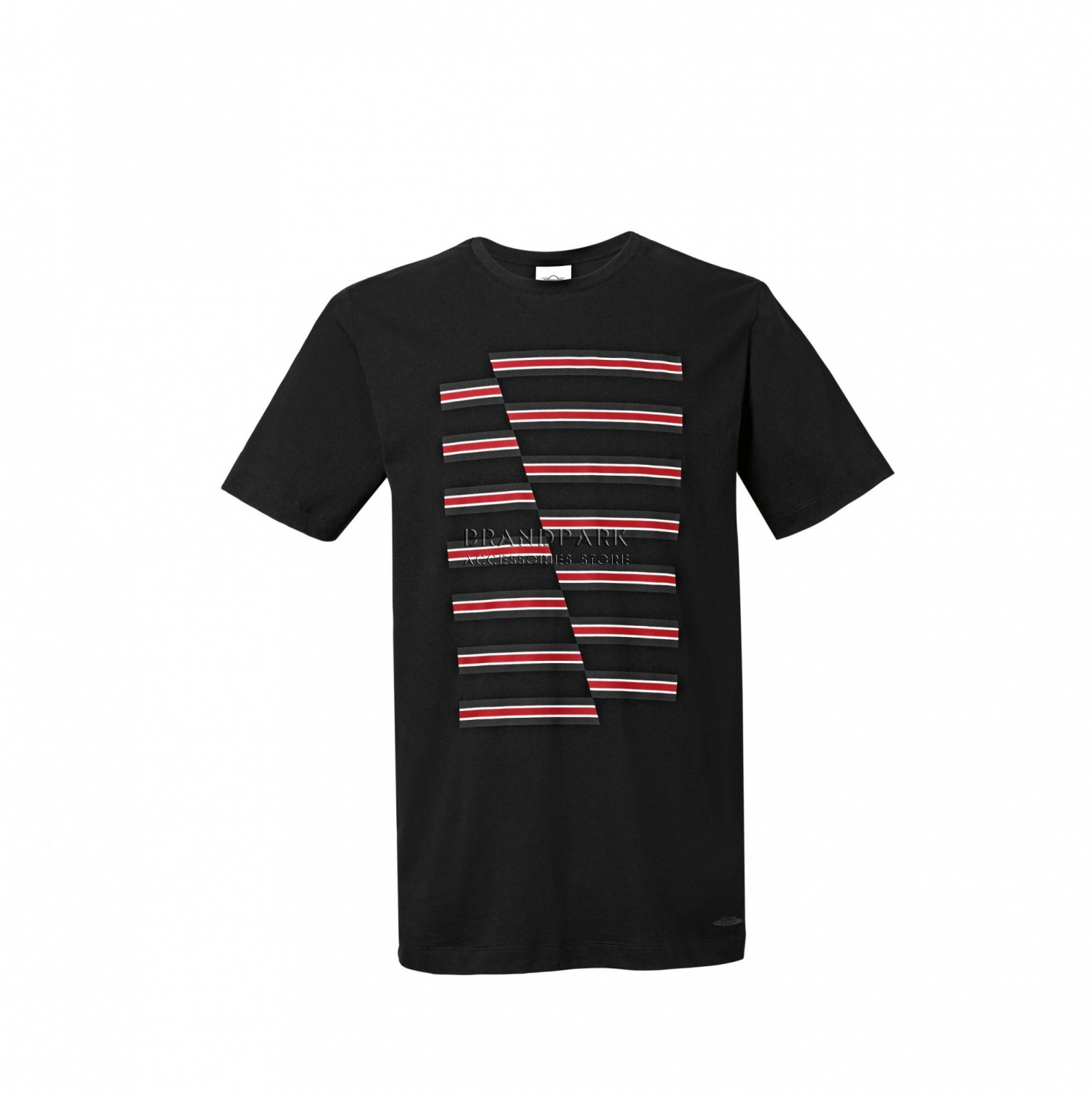 Мужская футболка MINI JCW Stripes Men's T-Shirt, Black