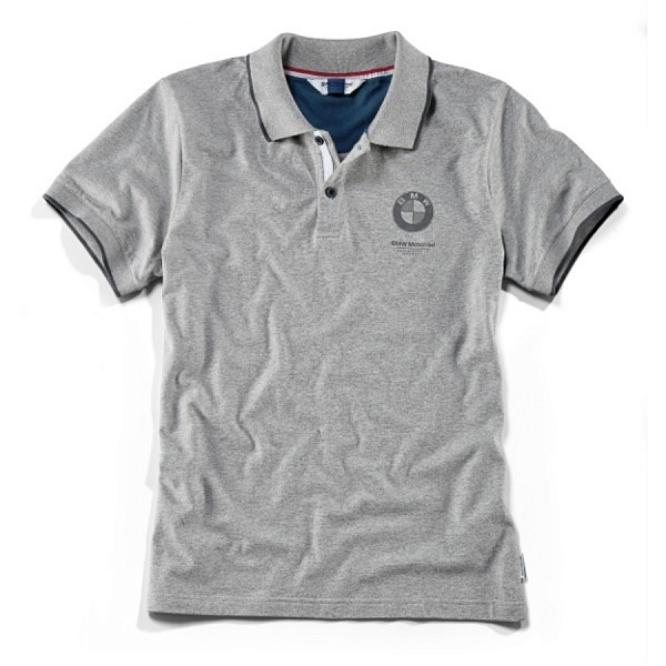 Мужская рубашка-поло BMW Motorrad Polo-shirt, Men, Grey ôîòî